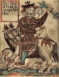 Odin op Sleipnir