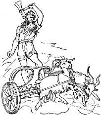 Thor in zijn strijdwagen